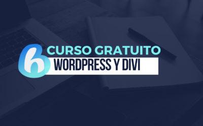 Curso gratuito de WordPress y Divi